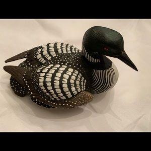 Wooden Common Loon Duck